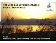 The Dead Sea Development Zone: Phase 1 Master Plan - JDZ