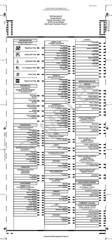 Sample Ballots - Clinton County
