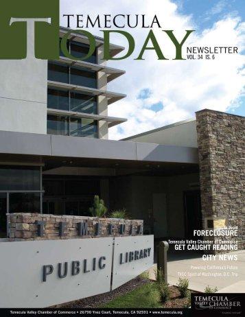 FODECLOSUDE CITy NEWS - Temecula Valley Chamber of ...