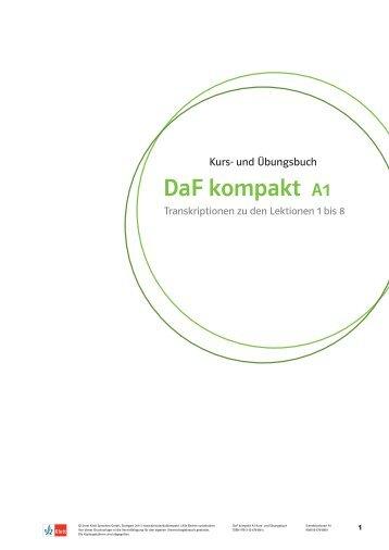DaF kompakt A1 - Ernst Klett Verlag