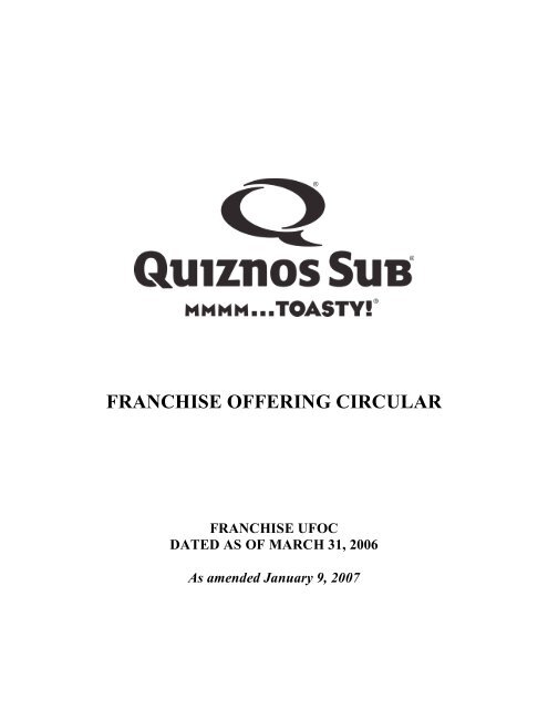 FRANCHISE OFFERING CIRCULAR - Blue MauMau