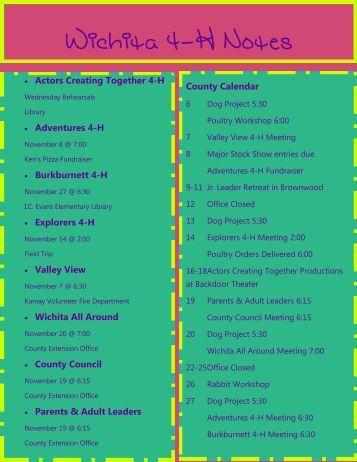 County Calendar