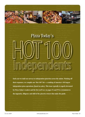 Hot 100 Independents - Cristy's Pizza