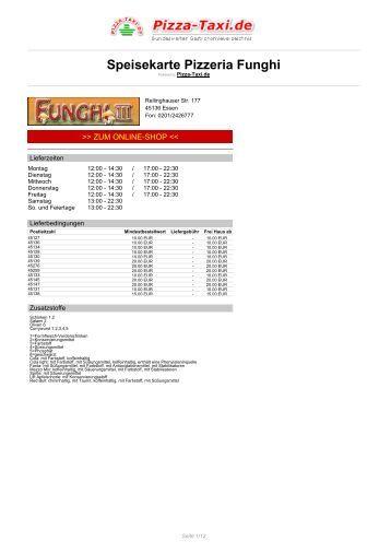 Pizzeria Funghi in 45136 Essen, Rellinghauser Str. 177 - Pizza Taxi