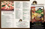 Takeout Menu - Michelangelo's Pizzeria & Restaurant