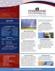 April 2012 - Goodfellow Family Housing