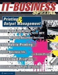 Das Drucken ändert sich - IT-Business