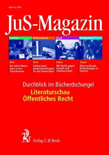 Literaturschau Öffentliches Recht - Verlag C. H. Beck oHG