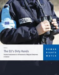The EU's Dirty Hands - Human Rights Watch