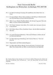 Freie Universität Berlin Kolloquium zur Römischen Archäologie WS ...