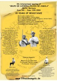 to download Flyer (pdf ca. 1 - Grupo Capoeira Filhos de Angola, Berlin