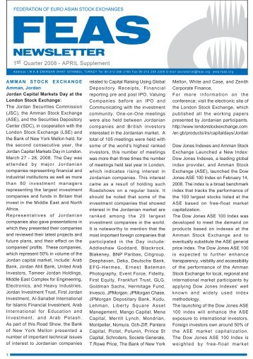 feas april 08 supplement - Federation of Euro-Asian Stock Exchanges
