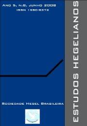 Revista Estudos Hegelianos - Sociedade Hegel Brasileira