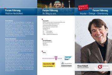 Forum Führung. - BVMW - Interessengemeinschaft mittelständischer ...