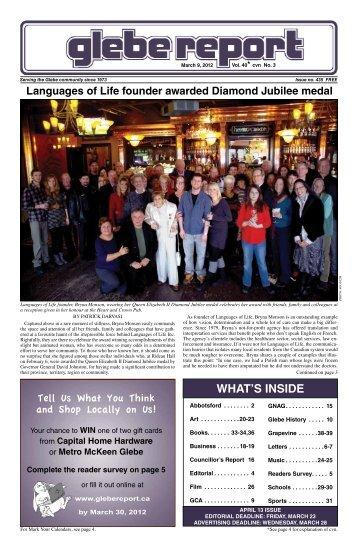 March 9, 2012 - Glebe Report
