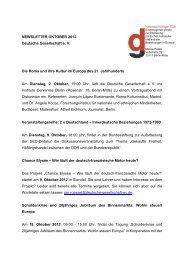 Oktober 2012 - Deutsche Gesellschaft eV