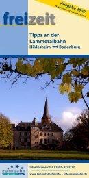 Freizeit mit der Lammetalbahn Inhaltsverzeichnis - Weserbahn ...