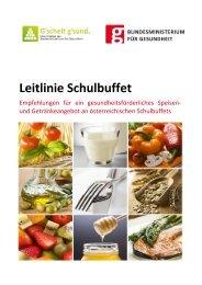 Leitlinie Schulbuffet - Bundesministerium für Gesundheit