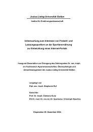 Untersuchung zum Interesse von Freizeit- und Leistungssportlern an ...