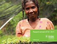Rapport annuel 2010 2011 - Oxfam-Québec