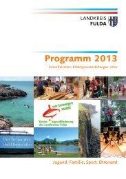 Landkreis Fulda - Programm Bildung und Freizeit 2013