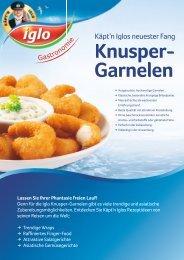 Knusper- Garnelen - bei Iglo Gastronomie!