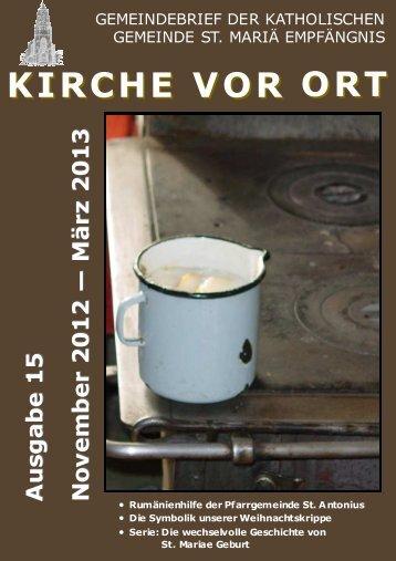 KVO 15 Herbst 2012.pub - St. Mariä Empfängnis