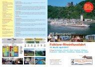 Folklore-Rheinflussfahrt MS Alemannia***+ - der Folklore Flussfahrten