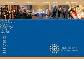 Kammermusik · Vokalmusik · Jazz und Weltmusik ... - Friedenskapelle