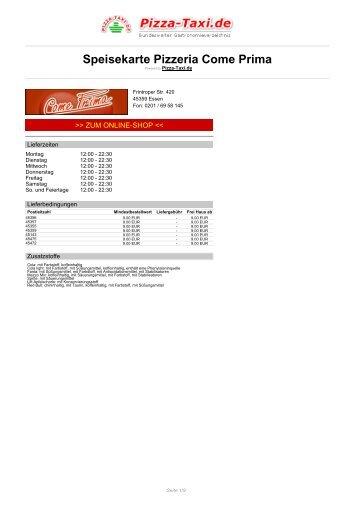 Pizzeria Come Prima in 45359 Essen, Frintroper Str. 420 - Pizza Taxi