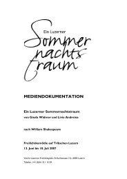 MEDIENDOKUMENTATION Ein Luzerner Sommernachtstraum