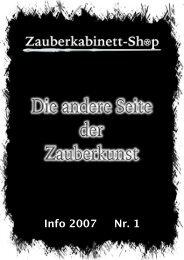 Info 2007 Nr. 1 - Zauberkabinett-Shop