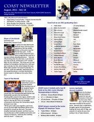 August, 2011 - Vol. 14 - Coast Volleyball Club