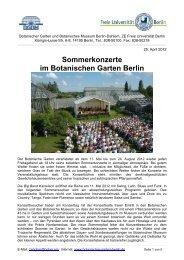 Sommerkonzerte im Botanischen Garten Berlin - Botanischer Garten ...