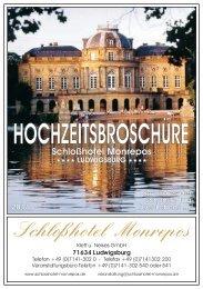 Hochzeitsbroschüre - Schlosshotel Monrepos