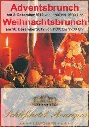 Weihnachtsbrunch - Schlosshotel Monrepos