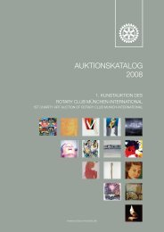 Katalog der Kunstauktion - Rotary Club of Munich International
