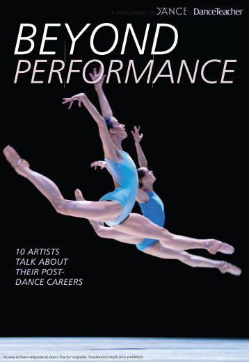 Beyond Performance (Sept 12) - Dance Magazine