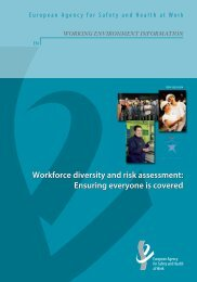 working environment information - European Agency for Safety and ...