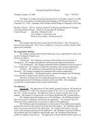 Zoning Hearing Board Minutes - Manor Township