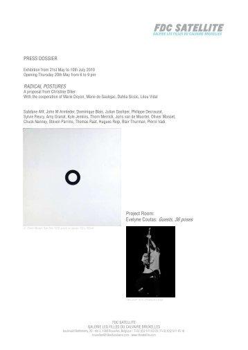 Evelyne Coutas: Guests, 36 poses - Galerie Les Filles du Calvaire