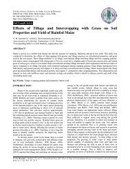 Effects of Tillage and Intercropping with Grass on Soil Properties ...