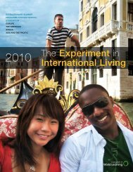 The Experiment in International Living - Connect - World Learning