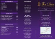Takeaway / Delivery Menu - Thai Siam