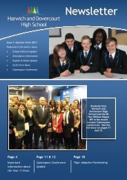 English Revision - Harwich and Dovercourt High School