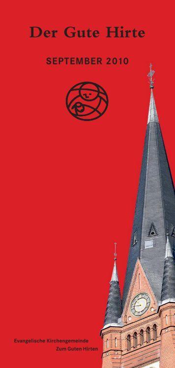 Der Gute Hirte Juli/August 2010 - Evangelische Kirchengemeinde ...