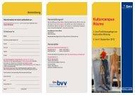 Kulturcampus Räume Inhalte - Bayerischer Volkshochschulverband