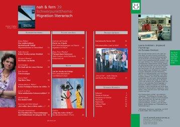 Spezial - nah und fern | Kulturmagazin für Migration und Partizipation