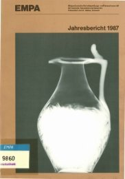 Jahresbericht 1987 - Eawag-Empa Library / Empa-Eawag Bibliothek