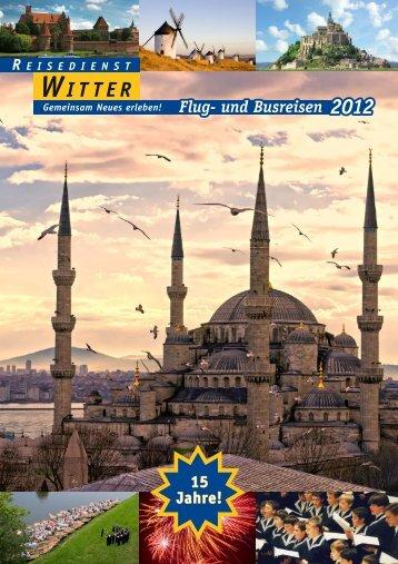 Flug- und Busreisen 2012